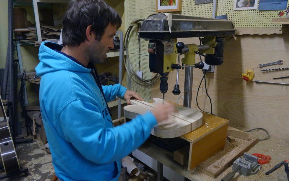 Stage Lutherie #31 : Guitare type Tele réalisée par JC - Hervé BERARDET Artisan Luthier, atelier Guitare et Création - Luthier Bordeaux