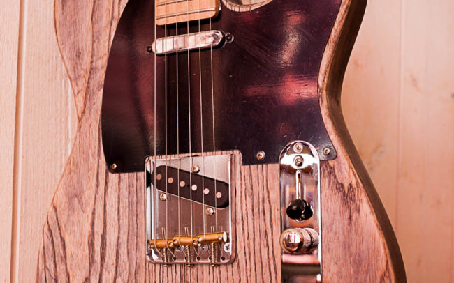 Custom Tele Aspect Vintage by Hervé BERARDET Artisan Luthier, atelier Guitare et Création