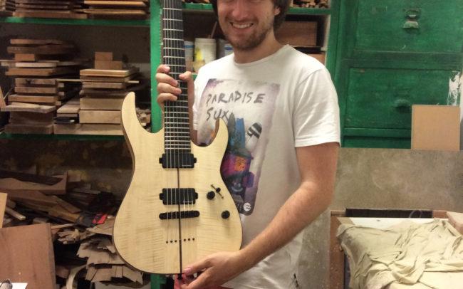 Stage#14 - type RG Ibanez en 2015 de Nicolas chez Hervé BERARDET Artisan Luthier, atelier Guitare et Création
