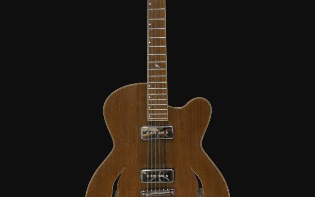Guitare Osiris, Guitare Voyageuse et Modulaire - réalisée par Hervé BERARDET Artisan Luthier, atelier Guitare et Création - Tout Noyer