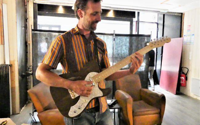 Stage#36 - Guitare type Tele Thinline de Guillaume 2020 chez Hervé BERARDET Artisan Luthier, atelier Guitare et Création - Pose micros