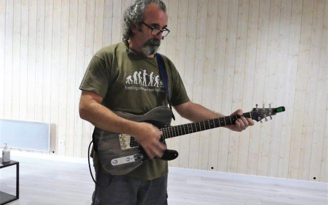 Stage#37 - Guitare type Tele de Jean-Luc 2020 chez Hervé BERARDET Maître Luthier, atelier Guitare et Création - JLuc et sa Telecaster