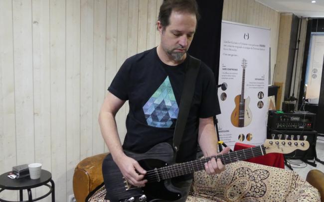 Stage#38 - Guitare type Tele de David Fév 2021 chez Hervé BERARDET Maître Luthier, atelier Guitare et Création - David et sa Telecaster