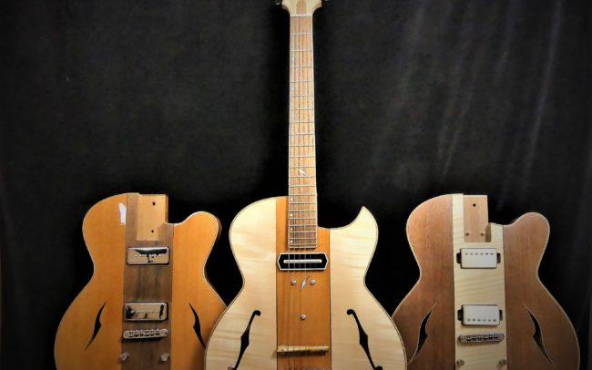 Guitare Osiris, Guitare Voyageuse et Modulaire - réalisée par Hervé BERARDET Maître Artisan Luthier, atelier Guitare et Création - Tous droits réservés - les 3 configurations - 9