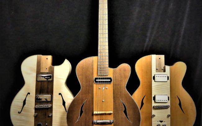 Guitare Osiris, Guitare Voyageuse et Modulaire - réalisée par Hervé BERARDET Maître Artisan Luthier, atelier Guitare et Création - Tous droits réservés - les 3 configurations - 10