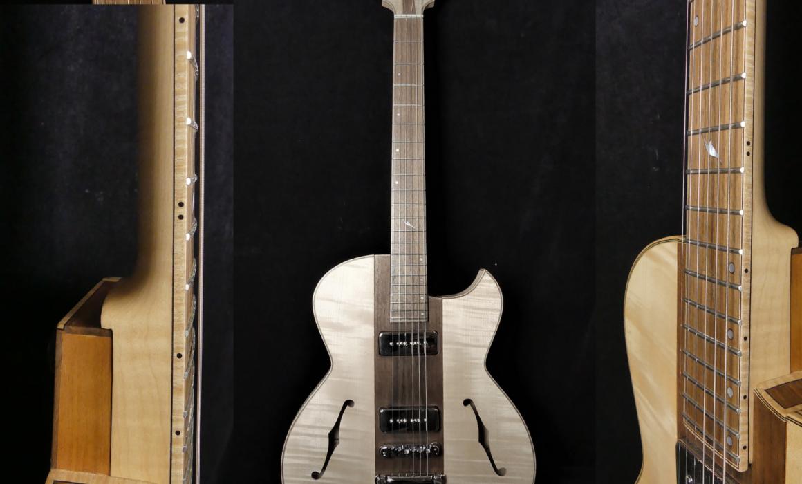 Guitare Osiris, Guitare Voyageuse et Modulaire - réalisée par Hervé BERARDET Maître Artisan Luthier, atelier Guitare et Création - Tous droits réservés - Manche Droitier-Gaucher1
