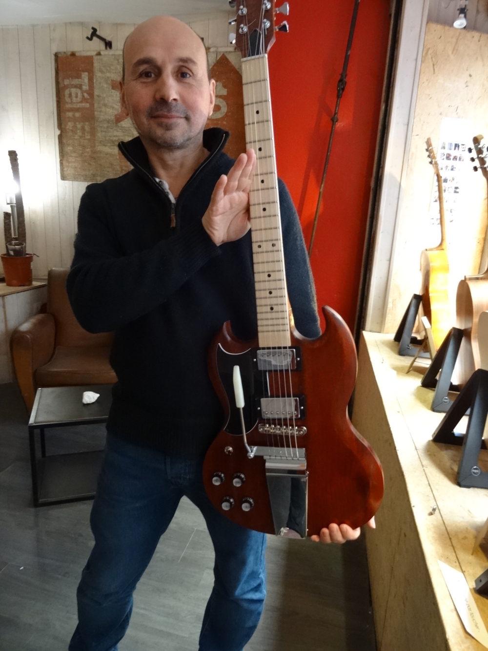 Stage #35 SG Gaucher 2020 d'Olivier chez Hervé BERARDET Artisan Luthier, atelier Guitare et Création