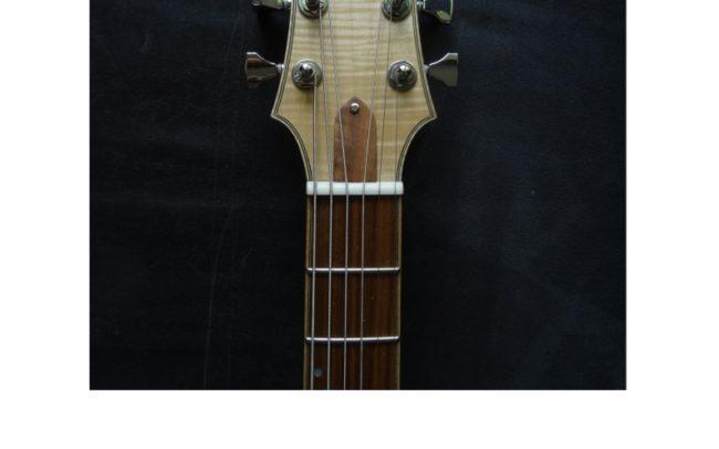 Osiris, Guitare Voyageuse et Modulaire - réalisée par Hervé BERARDET Artisan Luthier, atelier Guitare et Création - tête