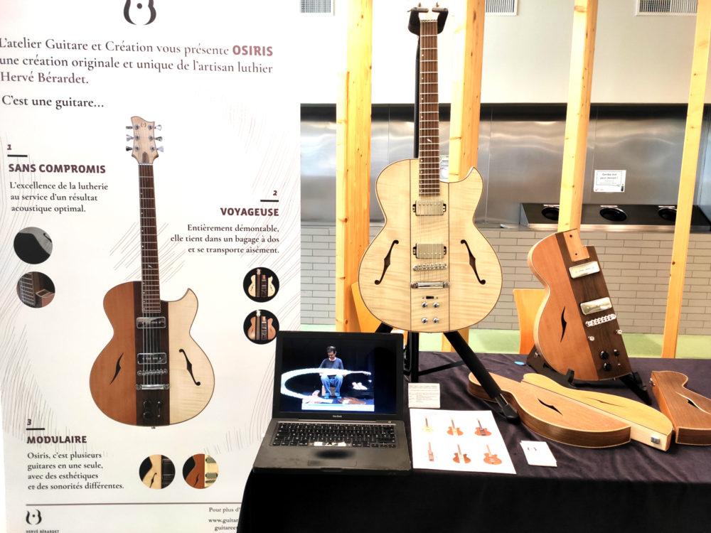 Hervé BERARDET Artisan Luthier, atelier Guitare et Création - Jour 2 Stand Osiris Salon des Internationales de la Guitare Toulouse 2020