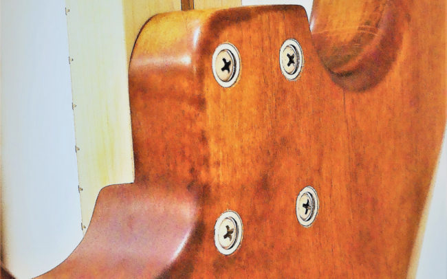 Custom Strato by Hervé BERARDET Maître Artisan Luthier, atelier Guitare et Création - Nov2020 - Détail dos